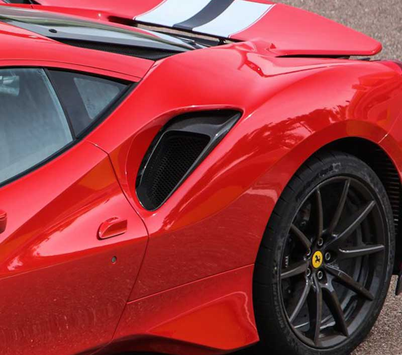 Ferrari 488 Pista Carbon Fiber Side Air Intake