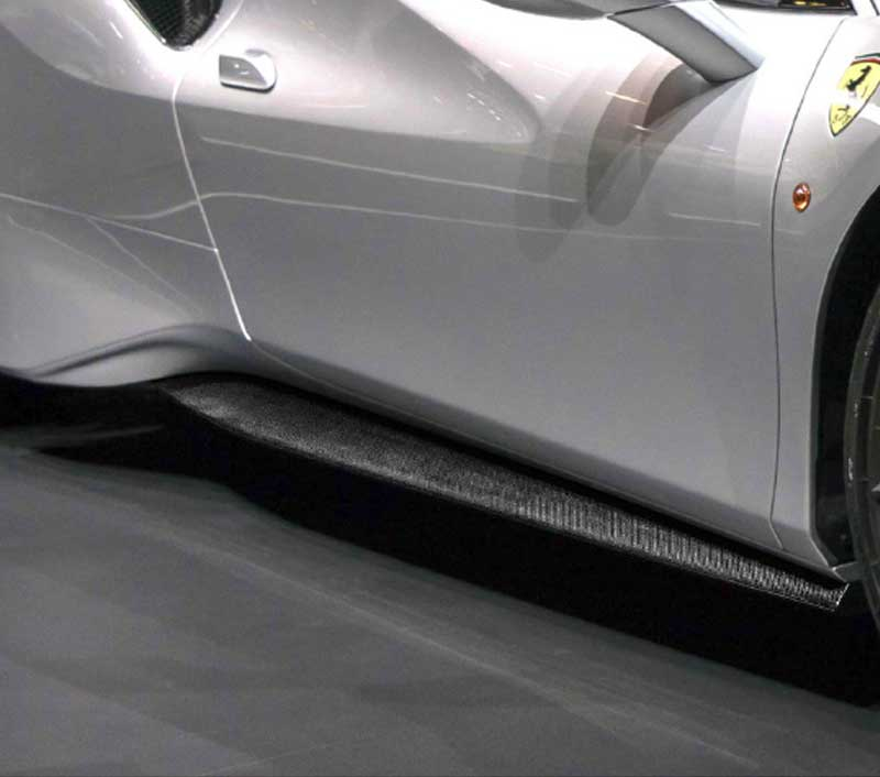 Ferrari 488 Pista Carbon Fiber Side Skirts (Underdoor Kit)