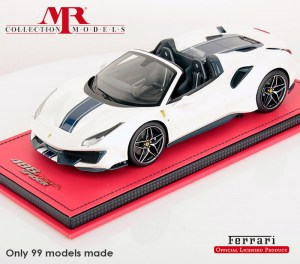 Ferrari 488 Pista Spider Pebble Beach Configuration 1:18, by MR Collection - FE025A