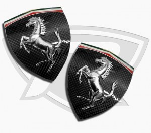 Ferrari 812 Superfast Tricolore Carbon Fiber Fender Shields