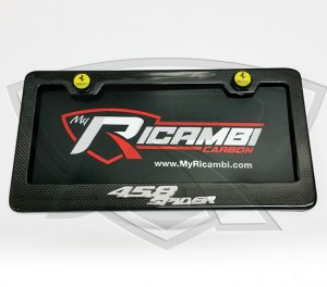 Ferrari 458 Spider Carbon Fiber License Plate Frame