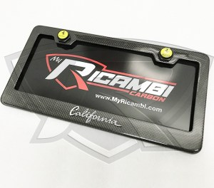 Ferrari California Carbon Fiber License Plate Frame