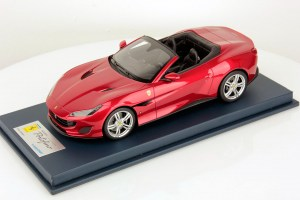 Ferrari Portofino with Open Roof - Rosso Portofino Scale 1:18, by LookSmart