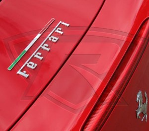 Ferrari Italian Badge Flag p/n 84706300