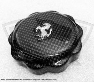 Carbon Fiber Oil Cap Cover with Cavallino